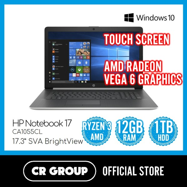 Same Day Delivery Option* HP Notebook 17-CA1055CL | AMD Ryzen™ 3 3300U | Radeon™ Vega 6 Graphics | 12GB DDR4 RAM | 1TB HDD (Refurbished)