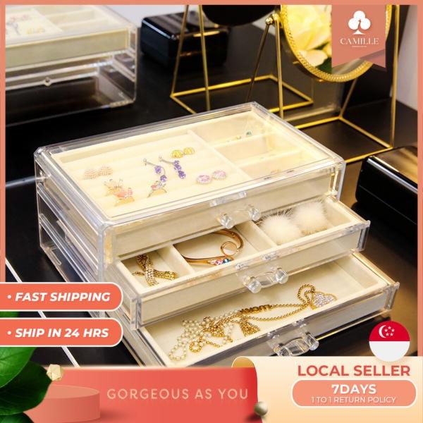 Buy Acrylic Jewellery storage box Jewellery Organizer Accessories Organizer transparent Jewellery box Quality jewelry storage Singapore