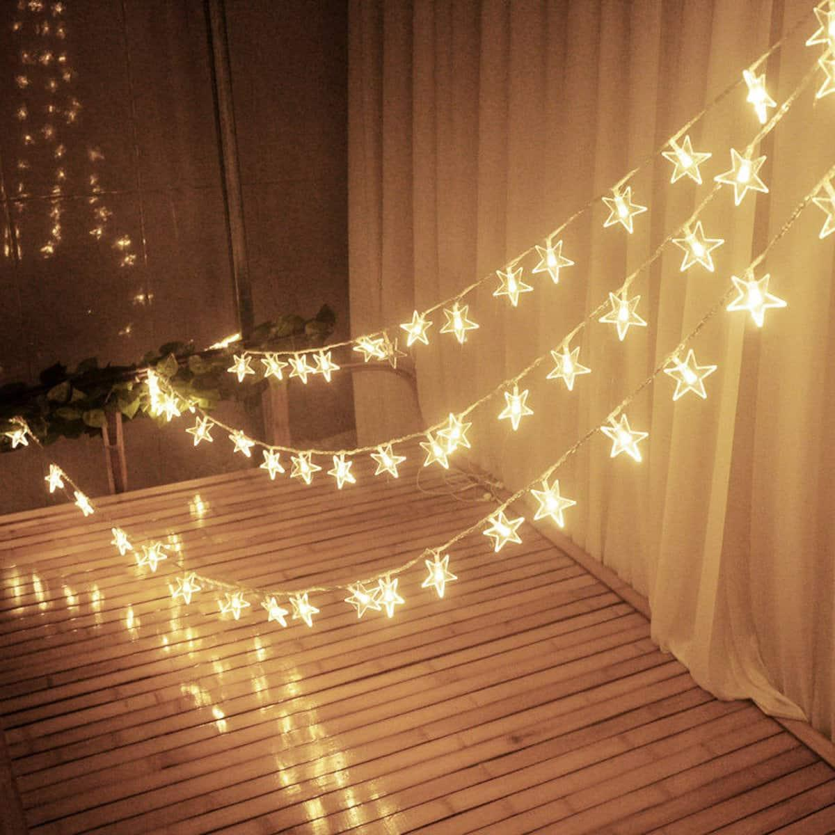 [SG Seller] New 10M 100LED Star String Fairy Lights for Party Home Outdoor Wedding Decorations