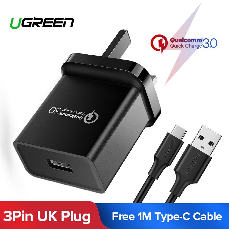 UGREEN 5V 2A Power Adapter AC to DC Adaptor Transformers PSU Replacement Power Supply Wall Charger with 1.5m Lead,3.5mm Plug for Led Strip Lights,CCTV,Foscam Camera,Router,USB Hub,UK Plug,CE Approved