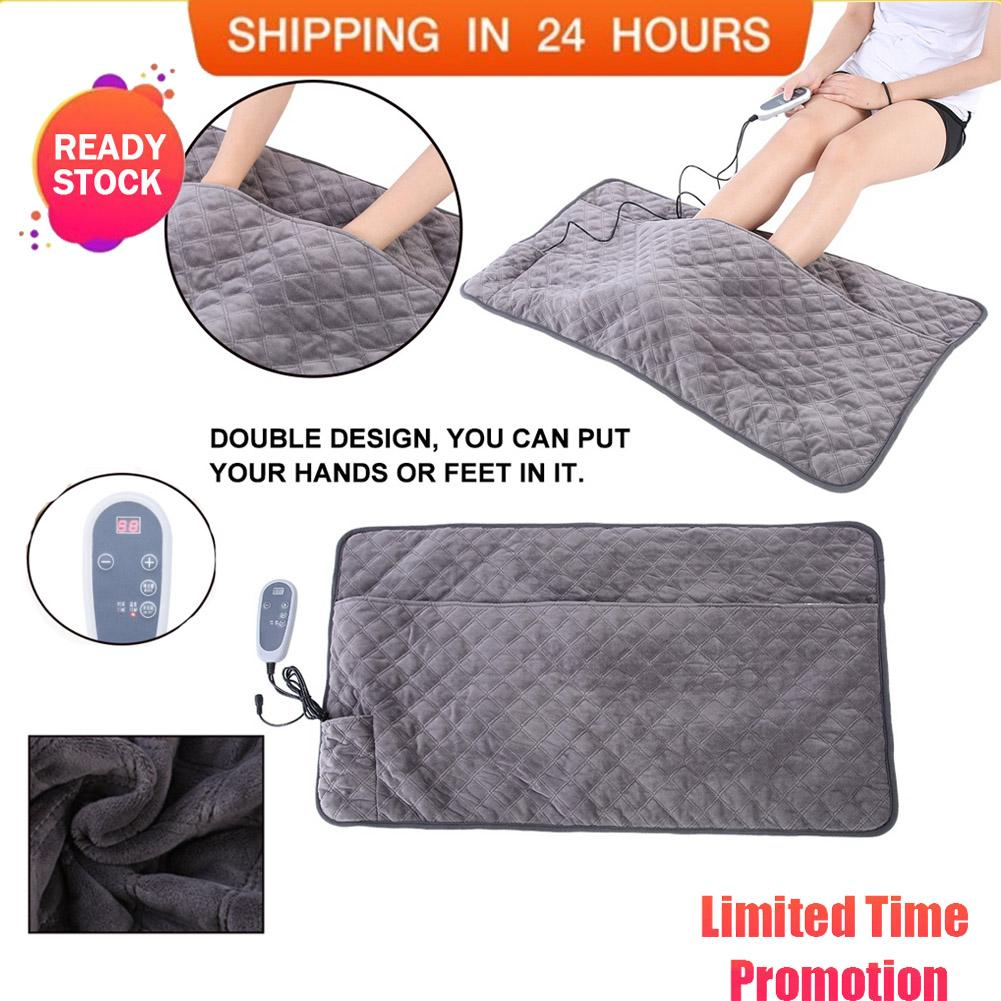 Electric Heating Pad Warming Mat Heated Double Blanket Adjustable Temperature Eu Plug By Meetbeauty.