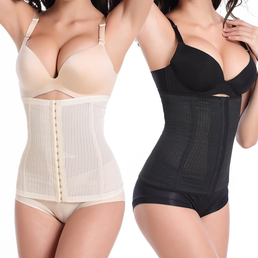 Women Corset Waist Trainer Control Body Shaper Underbust Breathable Shapewear Black (export) By Haitao.