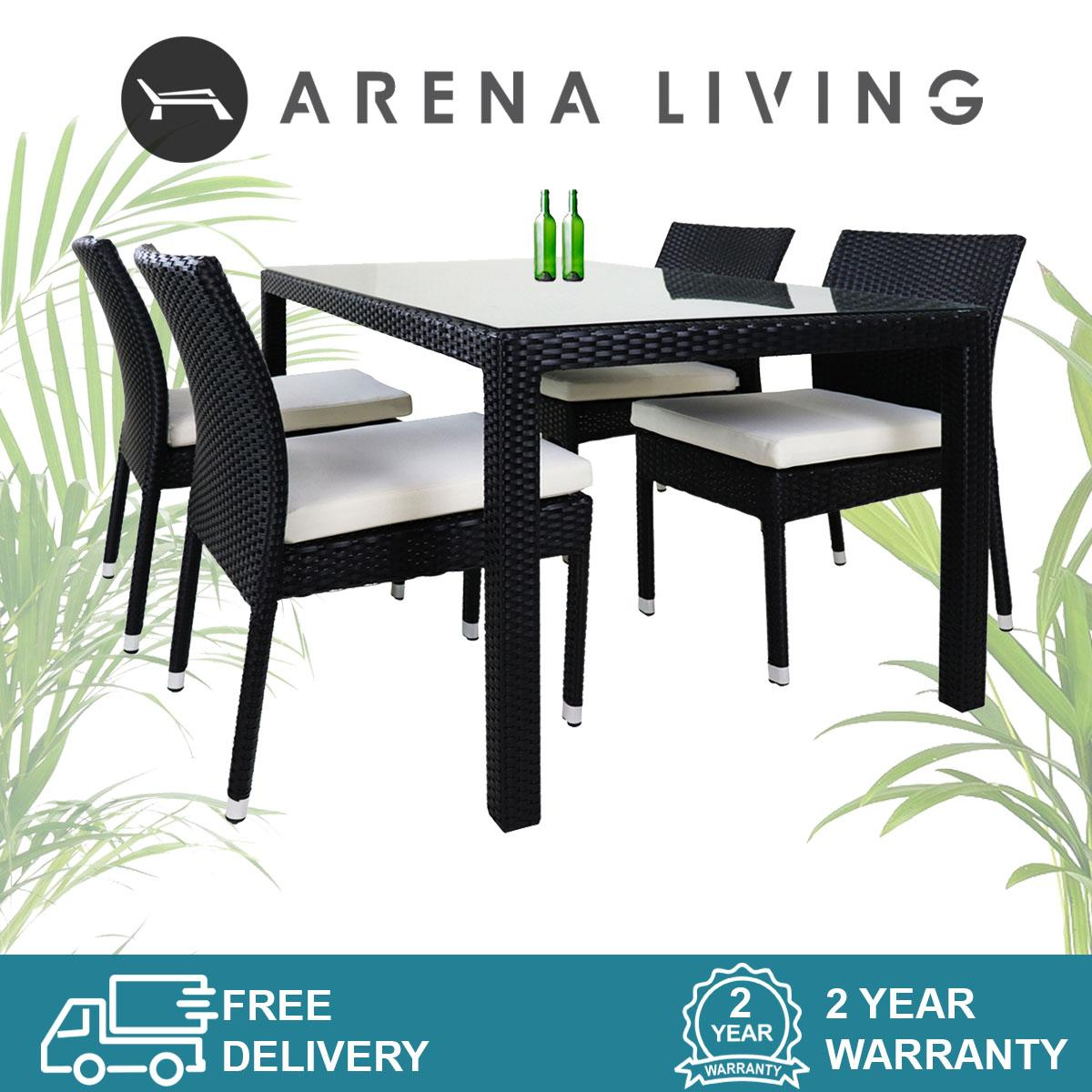 Casa 4 Chair Dining Set Set by Arena Living - 2 Year Warranty Outdoor Furniture