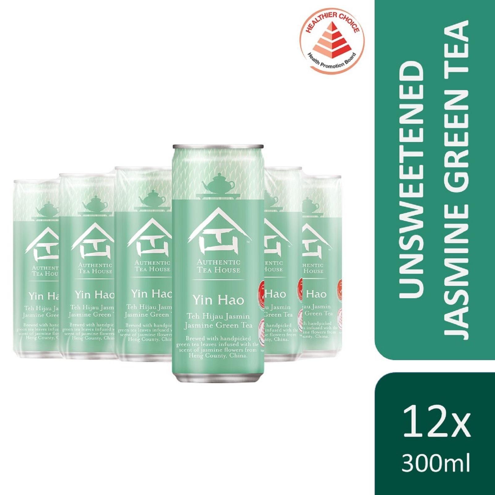 Authentic Tea House Yin Hao Unsweetened Jasmine Green Tea (12 x 300ml) - Case