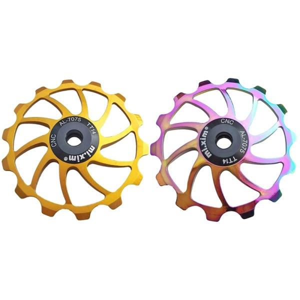 Mua Mi.Xim 2 Pcs MTB Road Bike Ceramic Pulley 14T Rear Derailleur Bearing Jockey Wheel Gold & Colorful
