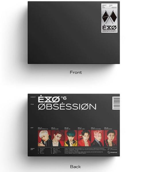 (X-exo ver) EXO 6th Album OBSESSION + Pre-Order Gift + Folded Poster + Store Gift