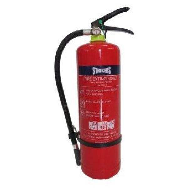 STRIKERS 4KG FIRE EXTINGUISHER / ABC POWDER / COVERS CLASS A B C / FIRE /