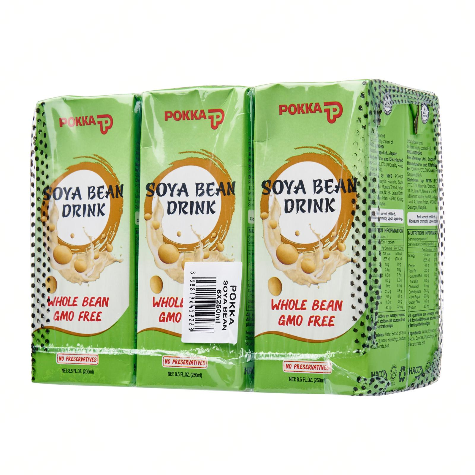 Pokka Soya Bean Drink (6 x 250ML)