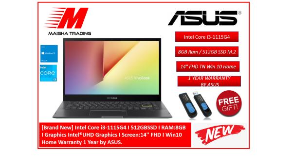 [Brand New] Intel Core i3-1115G4 I 512GBSSD I RAM:8GB  I Graphics Intel®UHD Graphics I Screen:14 FHD I Win10 Home Warranty 1 Year by ASUS