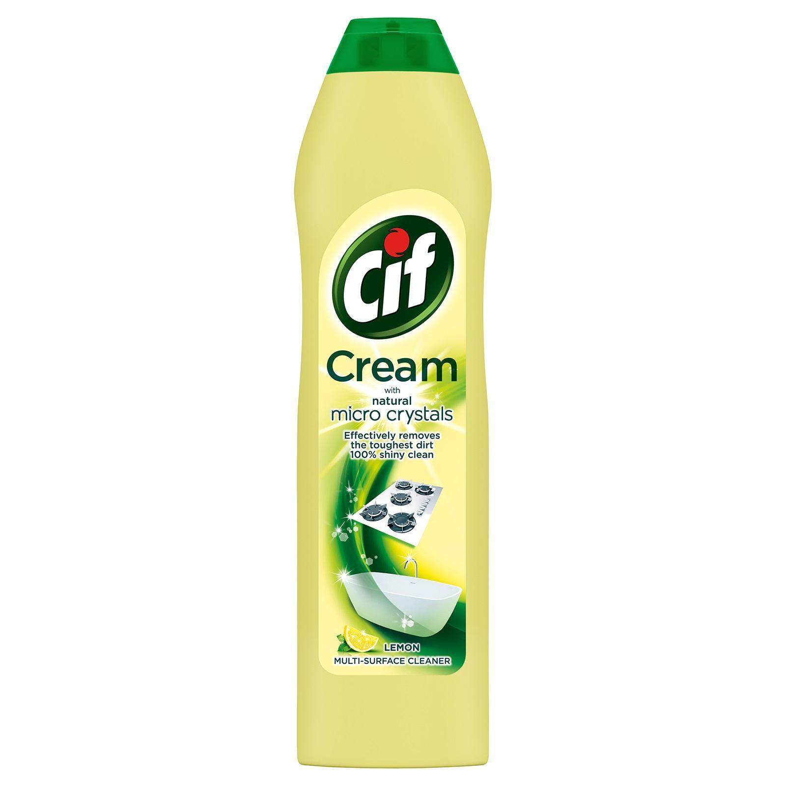 CIF Cream With Micro Crystals Surface Cleaner - Lemon - Indonesia