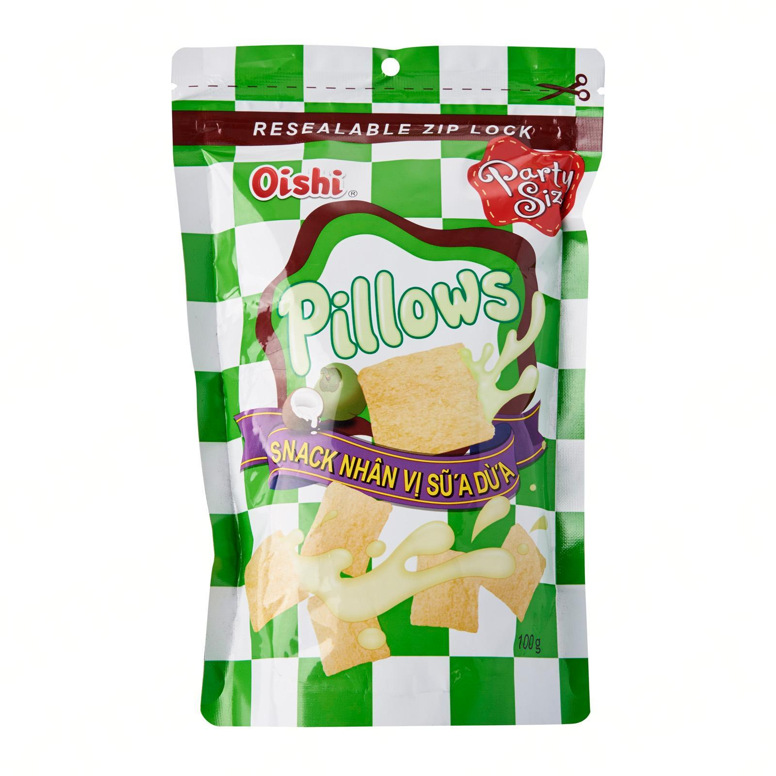 Oishi Pillows Coconut Filled Crackers