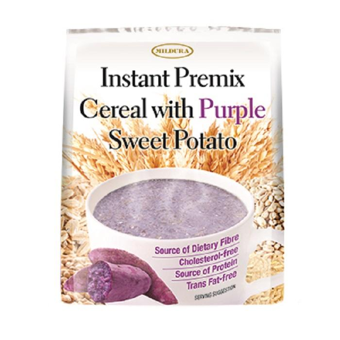 [mildura] Instant Premix Cereal With Purple Sweet Potato 35gx10 Pkts (new!!!!) By Mt Picturebox