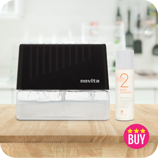Bundle Deal: novita Air Revitalizer AR6 with Air Purifying Solution Concentrate (3 bottles) Singapore