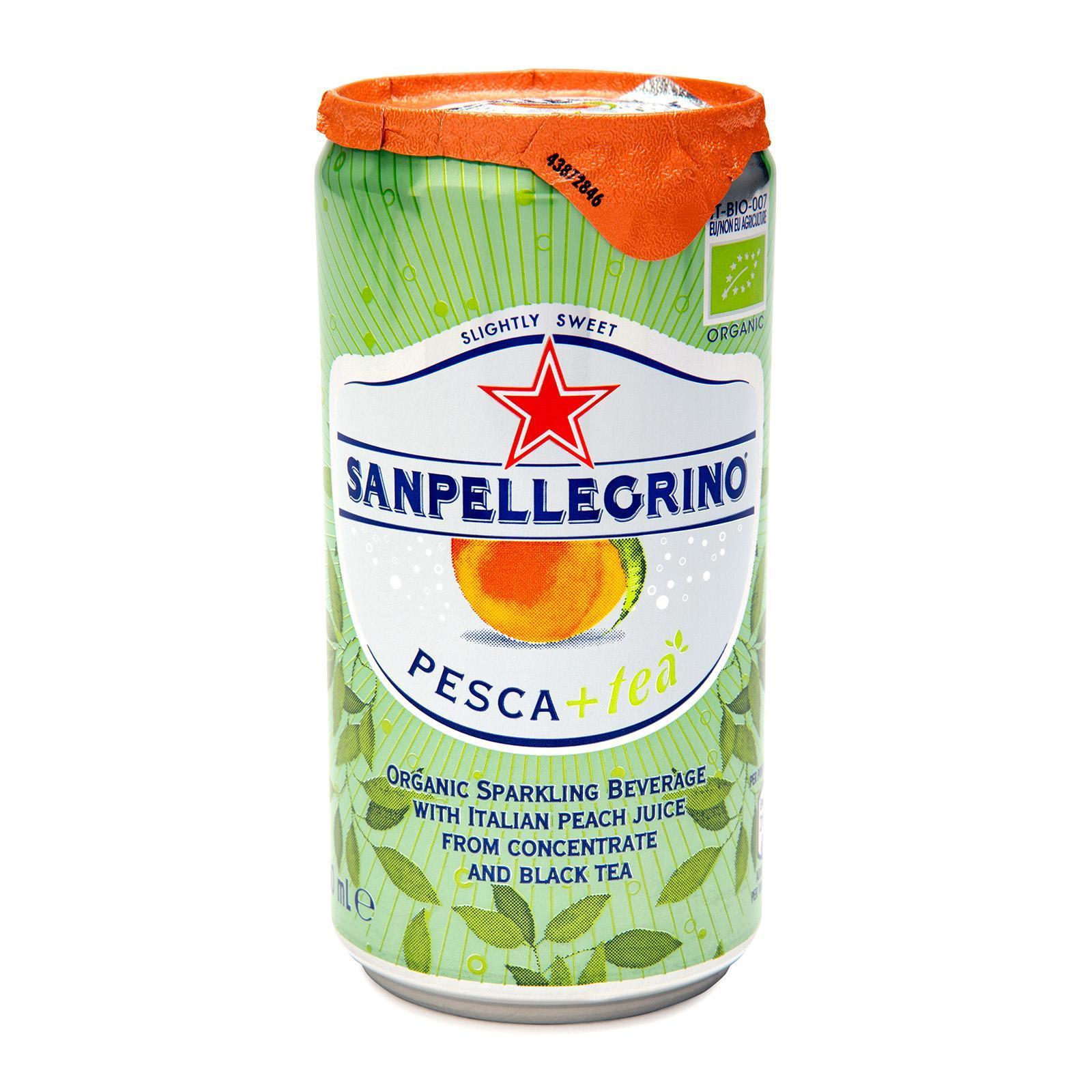 San Pellegrino Pesca+Tea Organic Sparkling Peach Tea