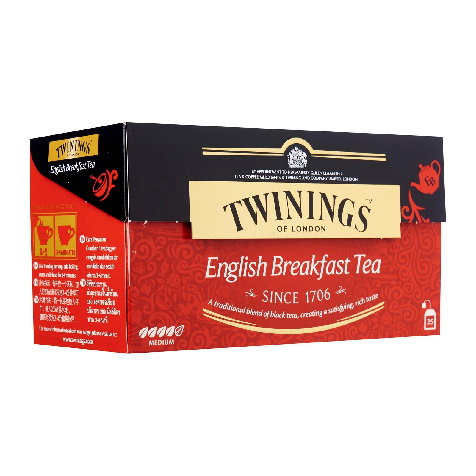 TWININGS English Breakfast Tea 25sX2g