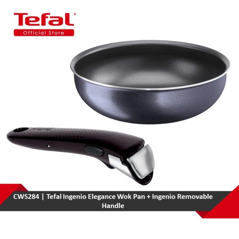 Tefal Ingenio Elegance Wok Pan + Ingenio Removable Handle (L23177 + L99331) CWS284 Singapore