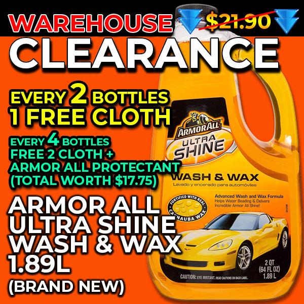 [myf Sale!] Armor All Ultra Shine And Wax Car Wash Shampoo 1.89 Litres Armorall.