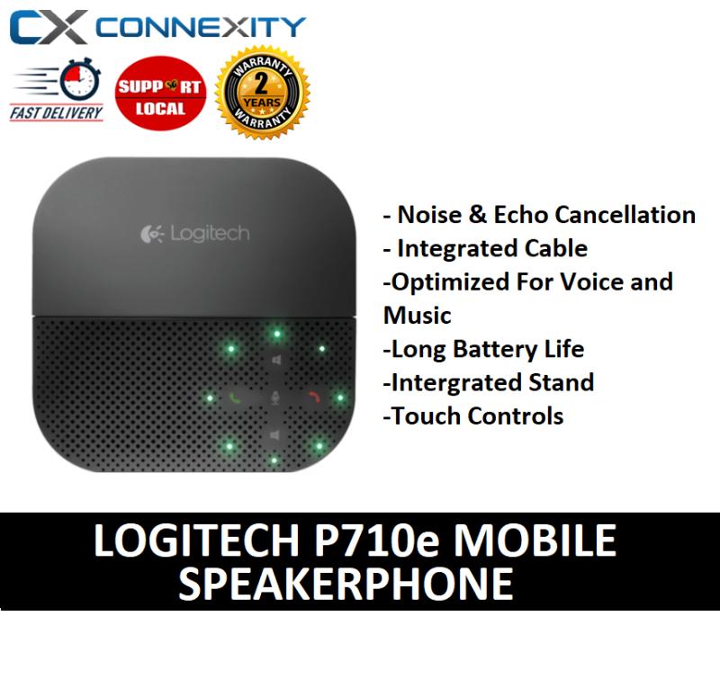 Logitech P710e Mobile Speakerphone | 980-000744 | Instant Conference Room | P710e | Logitech | Mobile Speakerphone | BLUETOOTH | USB CHARGING | NOISE CANCELLATION | 2505778 Singapore
