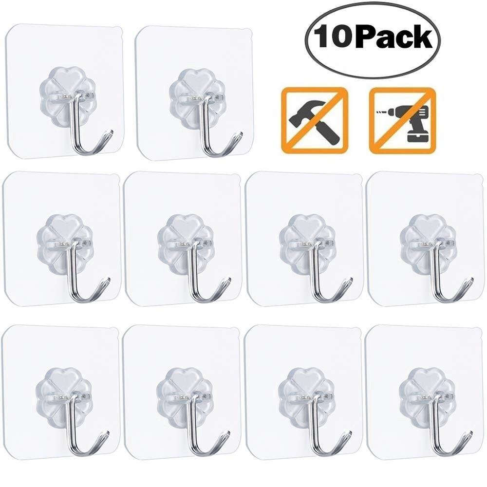 10 Pcs Strong Home Kitchen Hooks Suction Cup Sucker Bathroom Wall Hooks Hanger