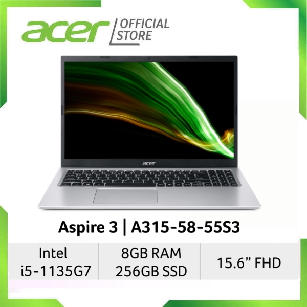 [2021 Model] Acer Aspire 3 A315-58-55S3(Silver) 15.6 Inches FHD Laptop   Intel Core i5-1135G7   8GB RAM