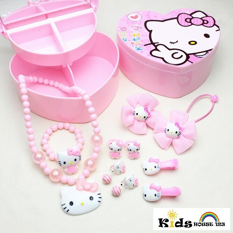 20d6a3263 Pink Kitty Jewelry / Hair Accessories Gift Set for Baby Kids Children Girl  A014