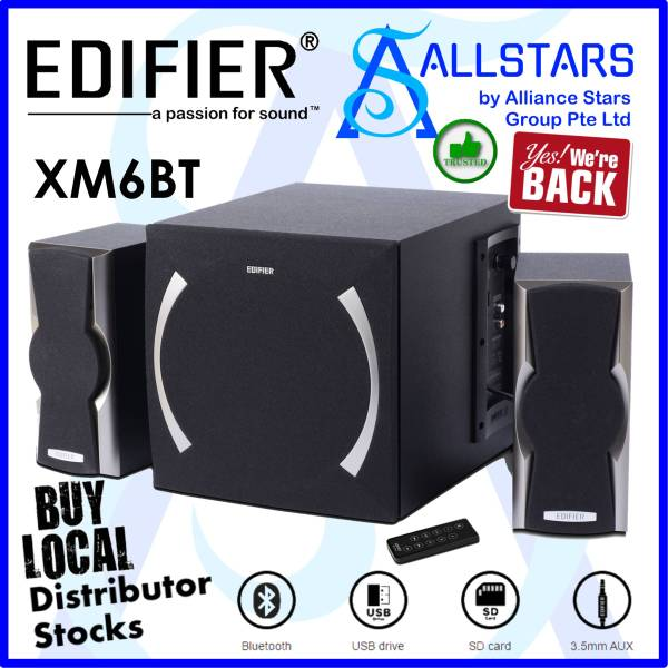 (*Limited Stocks are Available NOW 03Feb2021*) (ALLSTARS : We are Back / Audio Sound Promo) EDIFIER XM6BT 2.1 Speaker / Supports AUX, SD, USB devices and Bluetooth / Remote Control included (Warranty 2years with Local Distributor BanLeong)