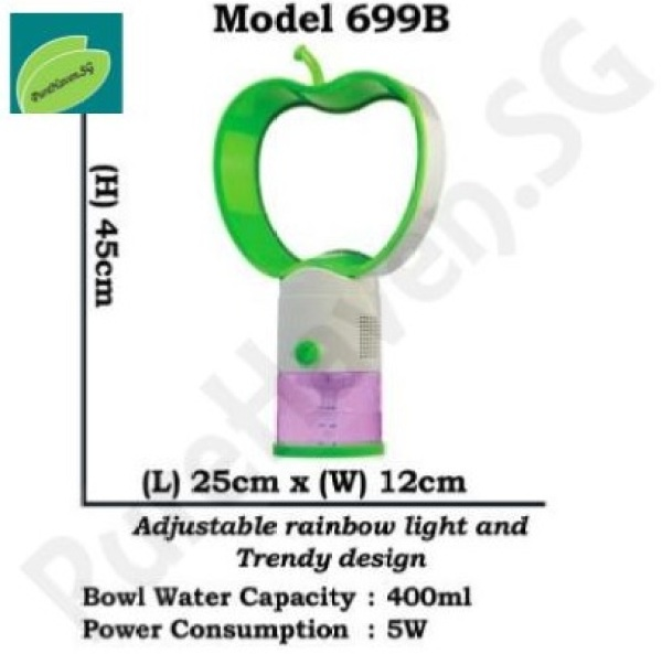 [BNIB] GOOD FOR HOME! Model 699B Water Air Purifier For Anywhere! With Adjustable Rainbow Lights! 400ml Singapore