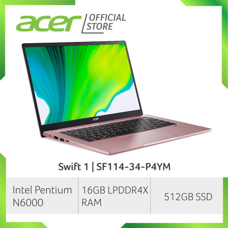 [2021 NEW MODEL] Acer Swift 1 SF114-34-P4YM 14 Inch FHD IPS Thin and Light Laptop | 16GB LPDDR4X RAM