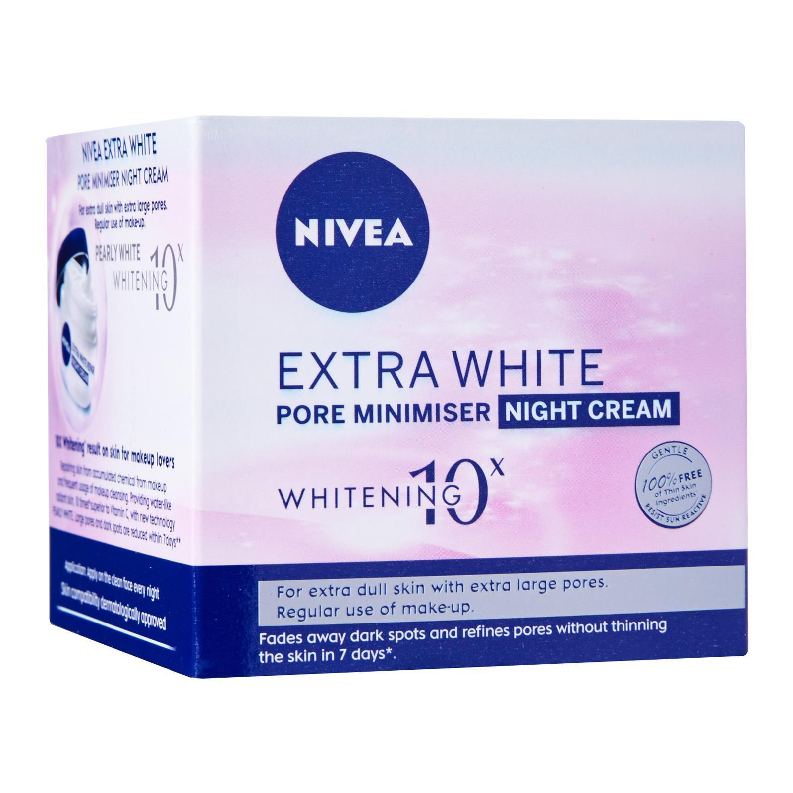 Nivea Face Care for Women Moisturiser Extra White Repair Night Cream