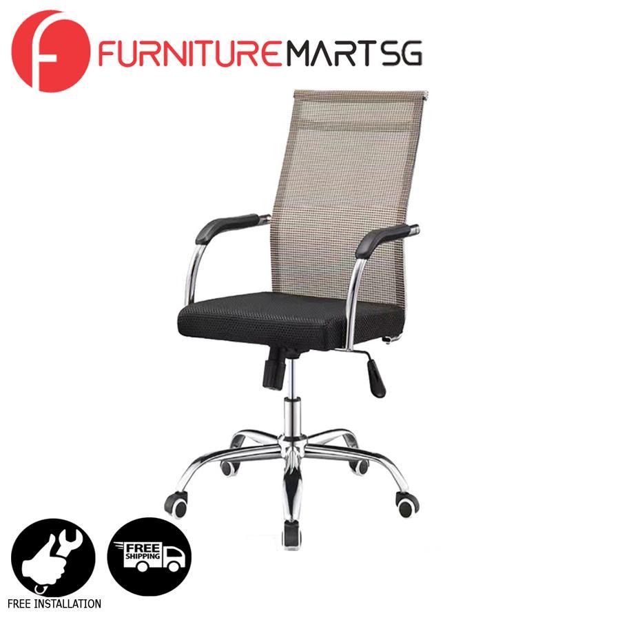 [FurnitureMartSG] JANNO Office Chair in Beige_FREE DELIVERY + FREE INSTALLATION
