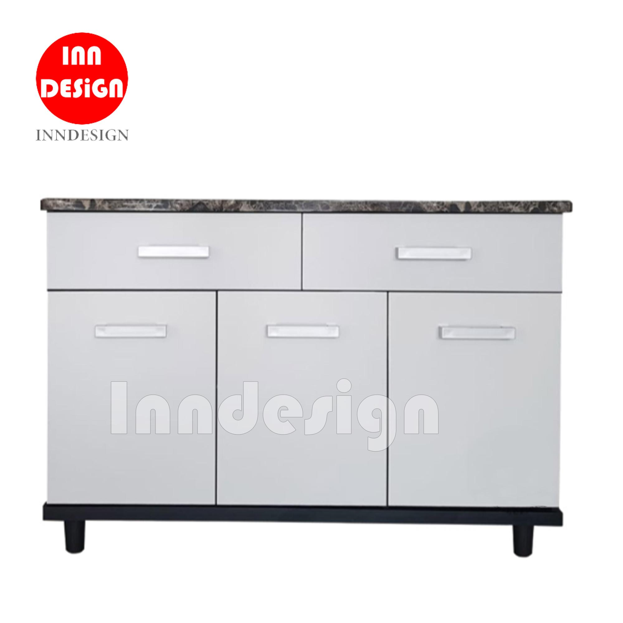 Aurora 3 Doors With 2 Drawers Kitchen Cabinet By Inndesign.