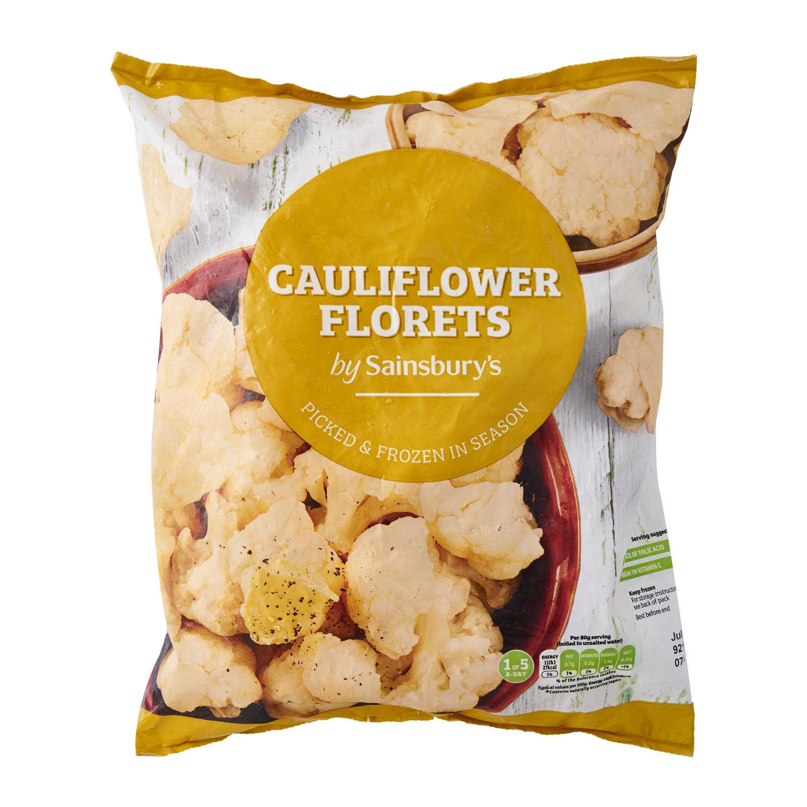 Sainsbury's Cauliflower Florets - Frozen