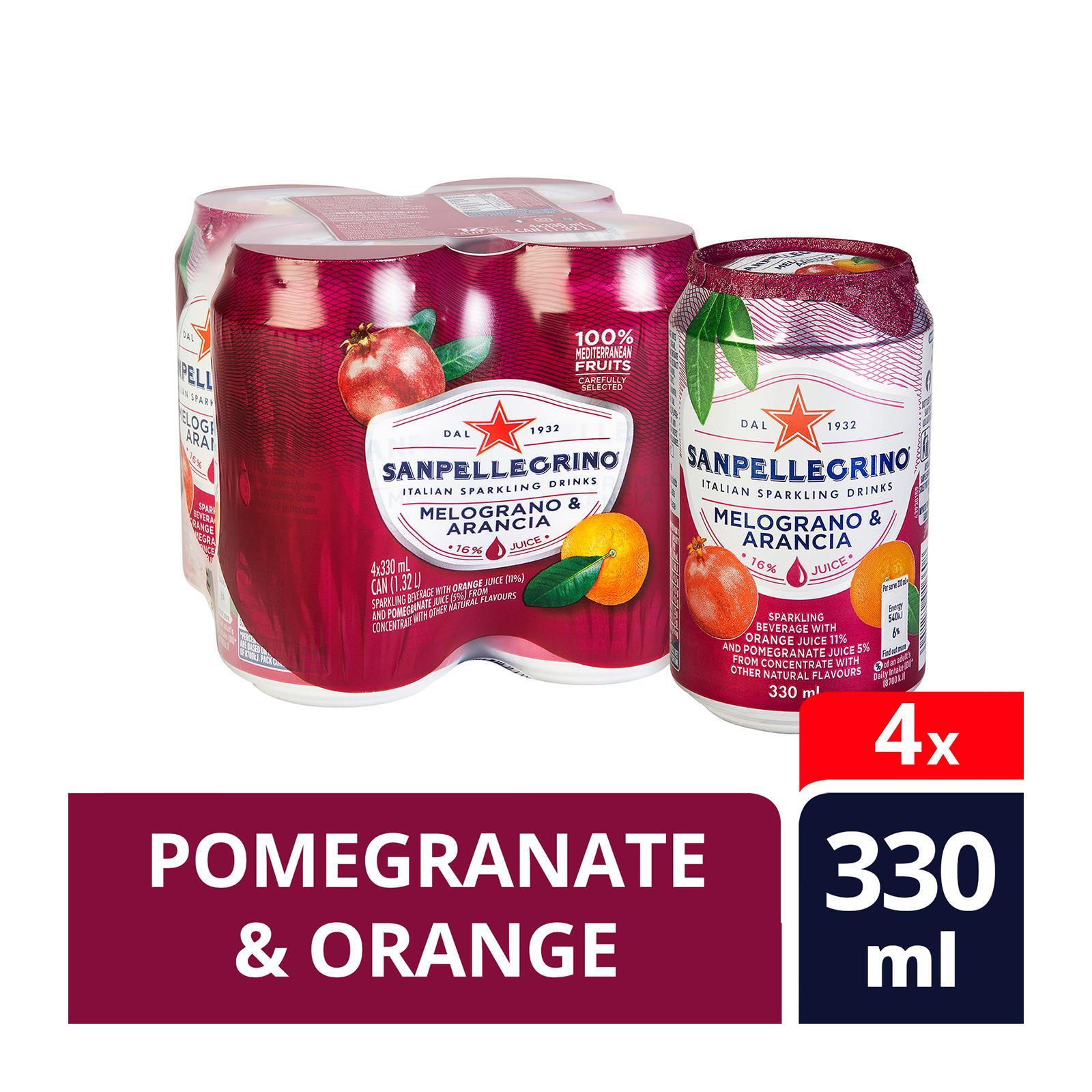 San Pellegrino Melograno E Arancia Sparkling Beverage