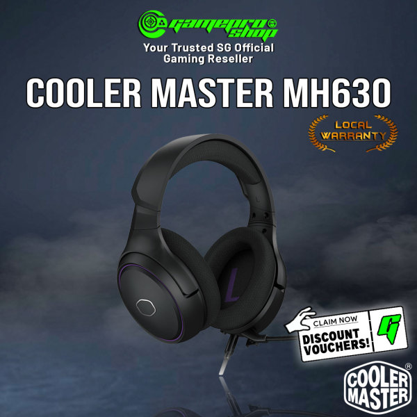 NEW Cooler Master MH630 Gaming Headset With detachable Mic MH-630 (2Y)