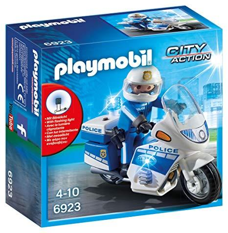Playmobil 6923 Police Bike with LED Light
