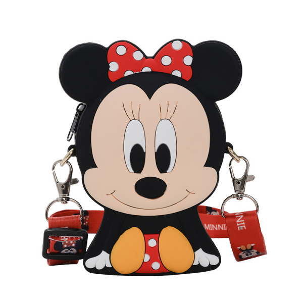 Childrens bag cute Minnie kindergarten baby coin purse cartoon ribbons boys and girls shoulder Messenger bag