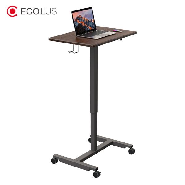 ECOLUS Ergonomic Standing desk table Adjustable Standing computer desk workstation Lift working table Lifting Stand-up Office Computer Desk for PC/Laptop/Monitor Mobile Workbench
