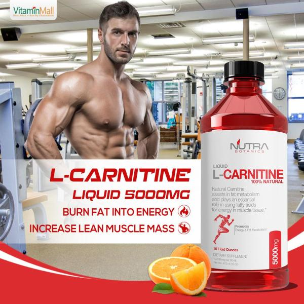 Buy Nutra Botanics Liquid L-Carnitine 5000mg - Liquid Fat Burner - 473ml - Orange Flavored - Boost Energy, Fast Recovery From High Intensity Workouts - Turn Fat into Fuel - Carnitine Supplement - L Carnitine Liquid - Support Muscle Recovery Singapore