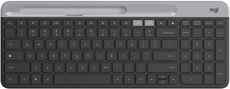 Logitech K580 Slim Multi-Device Wireless Keyboard (Graphite/ Off White) Singapore
