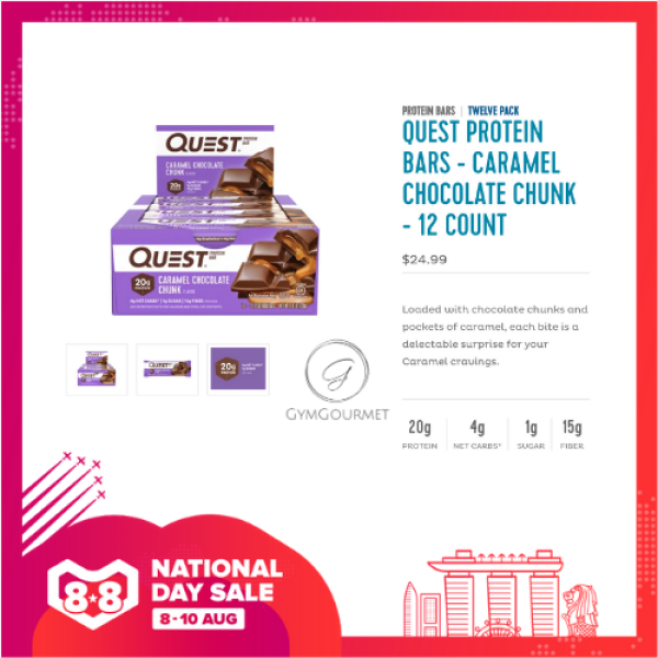 Buy QUEST BARS | GymGourmet | Sports Nutrition Refuel | Best of Healthy Gym Protein Snacks | Multiple Flavours Available (12 bars/Box) Singapore
