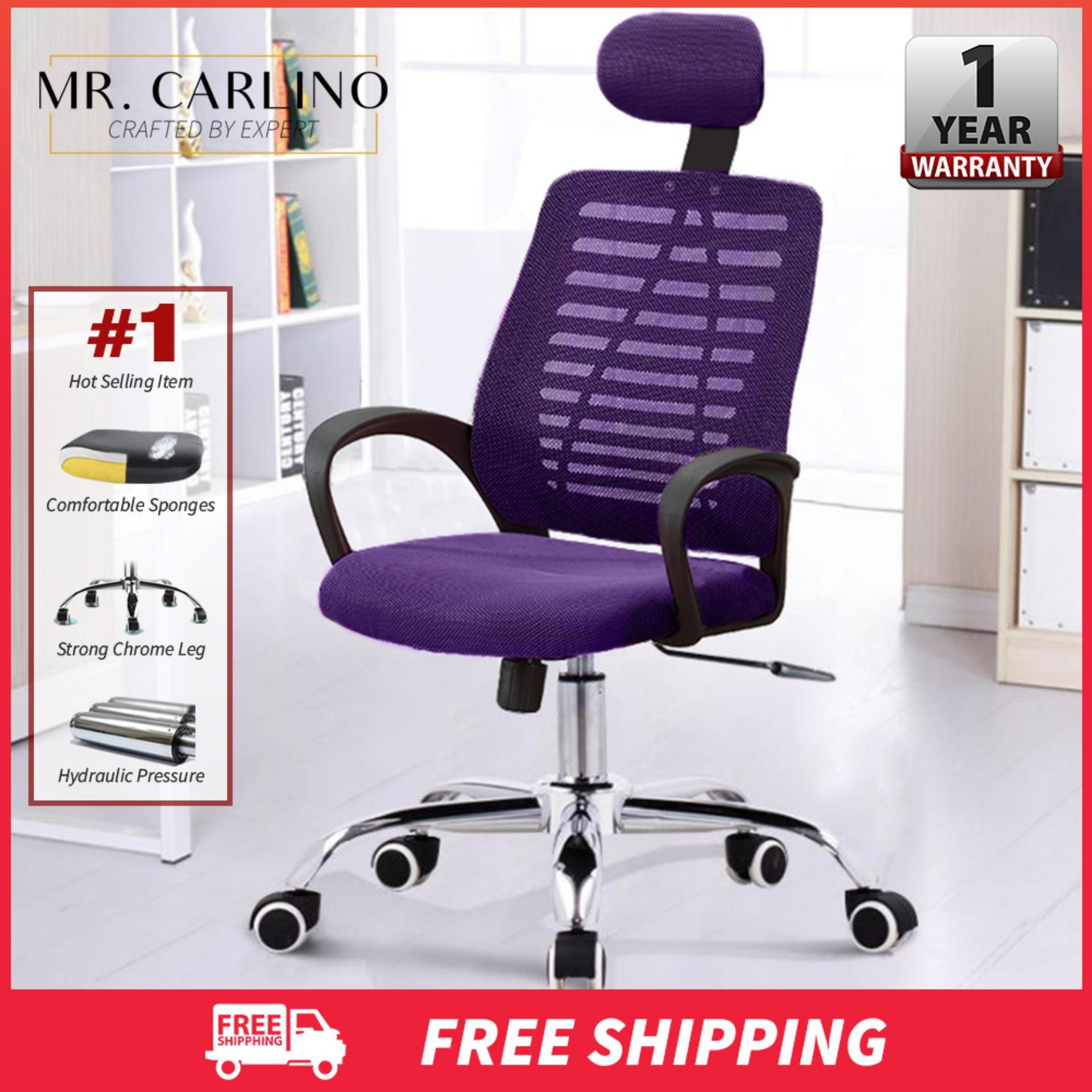 RAMOS Classy Large Sized Mid-Back Height Adjustable Mesh Office Chair With Head Rest