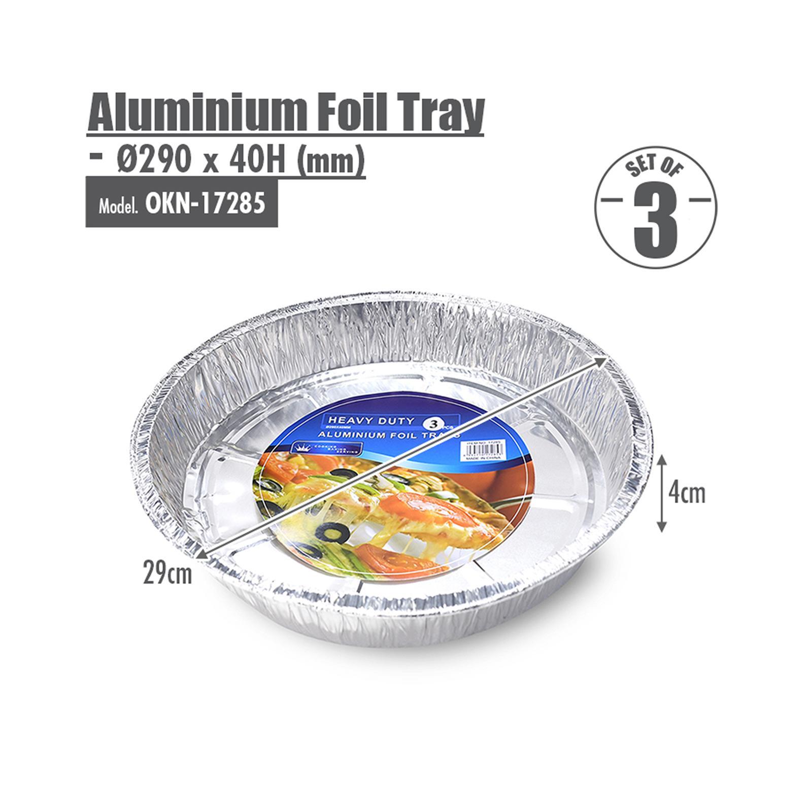 HOUZE Round Aluminium Foil Tray - Set of 3