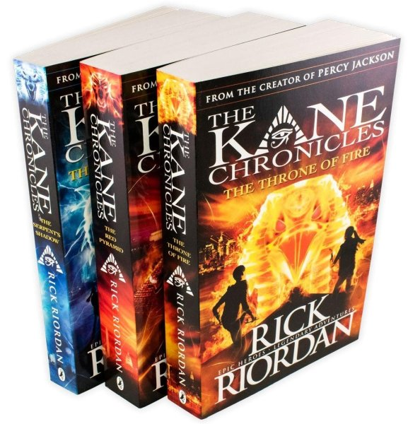 UK Ver.The Kane Chronicles 3 Books Collection by Rick Riordan of Percy Jackson series