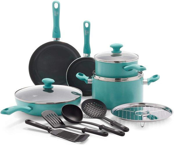 Greenlife Diamond Ceramic 13pc Professional  Cooking Kitchen Nonstick Cookware Singapore