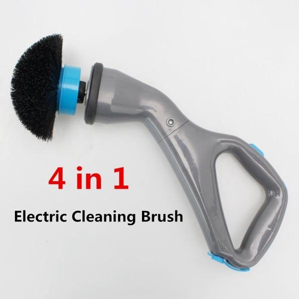 Bảng giá 4Pcs Cordless Scrubber Electric Cleaning Brush with Brush Heads Bathroom Surface Bathtub Shower Tile Brush EU Plug Điện máy Pico