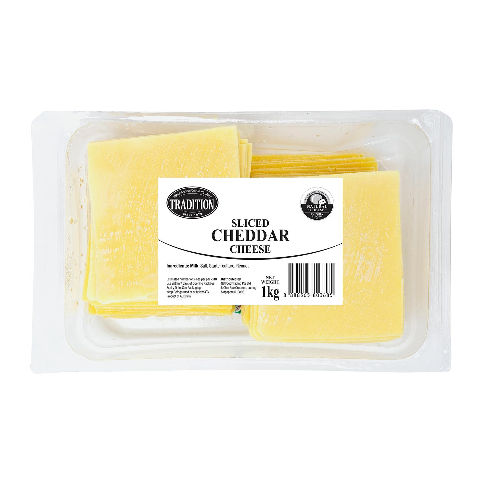 Tradition Sliced Cheddar Cheese Bulk Pack