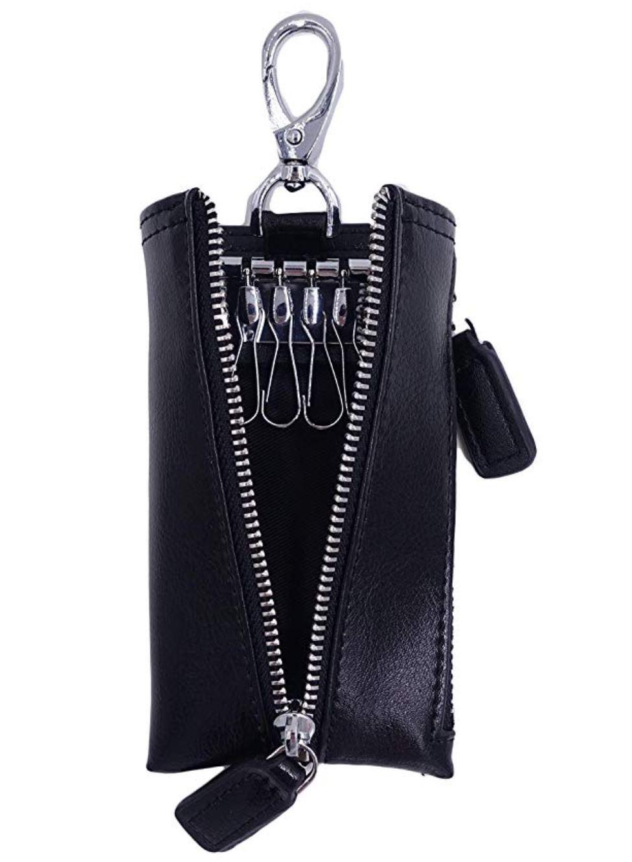 Local Seller Genuine Leather Zipper Coin Pocket Purse Car Key Case Holder  Wallet Keychain