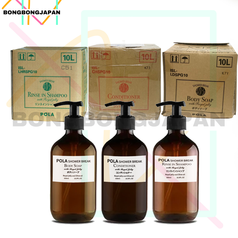 Buy JAPAN Pola Shower Break Silicone-Free Shampoo 500ml/conditioner 500ml/body Wash 500ml With Royal Jelly Singapore