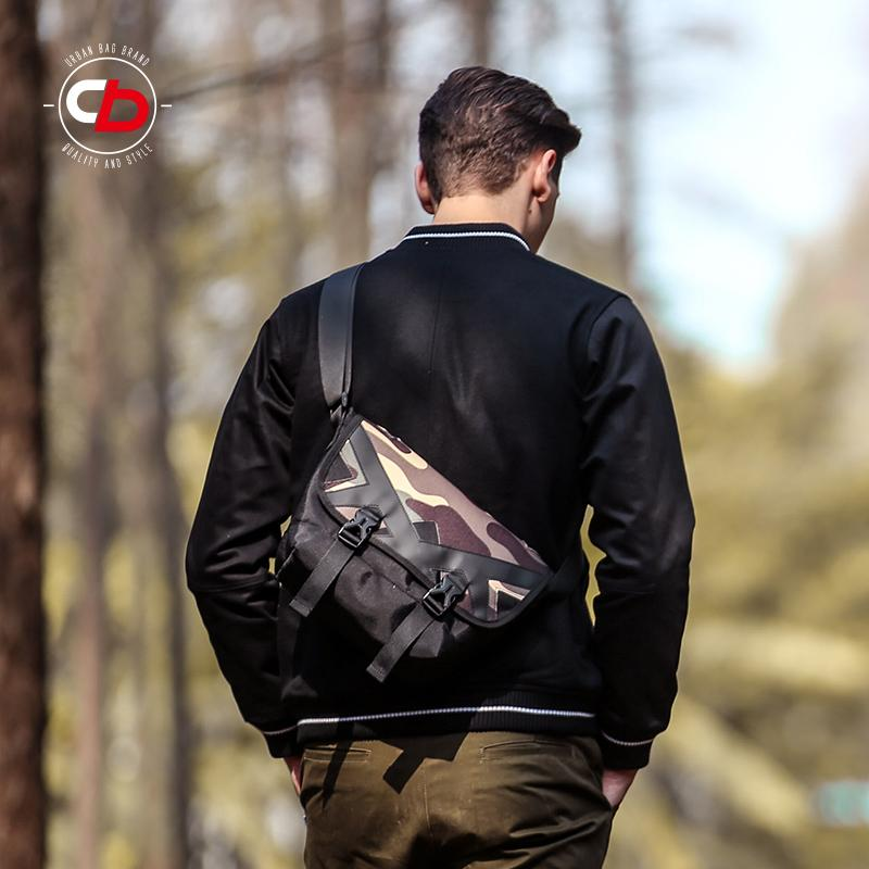 COMBACK Men And Women Dark Camouflage Messenger Bag Travel Small Bag Popular Brand Messenger Bag Street Cross School Bag