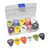 25Pcs Acoustic Electric Guitar Picks Plectrums Pick Bag Assorted 6 Thickness Review